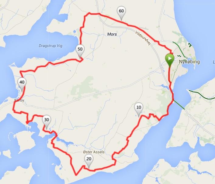 70 km ruten